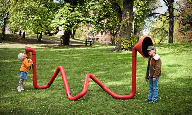 Karl-Johan Ekeroths interactive sound sculpture for children, where the voice is the best toy.