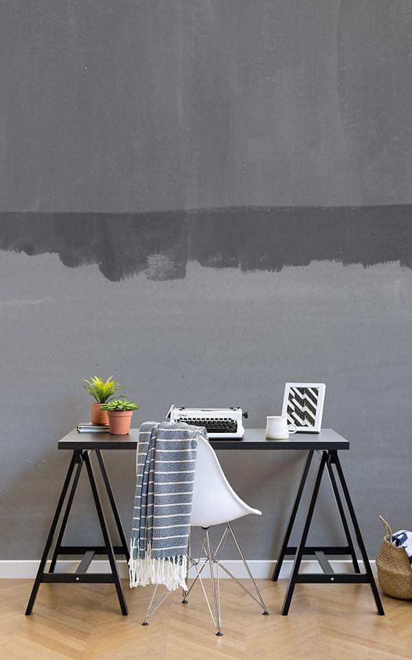 Papier Peint Vista Gris Wallpaper murals, Office spaces and Wall