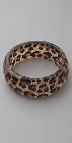 leopard print bangle / kenneth jay lane