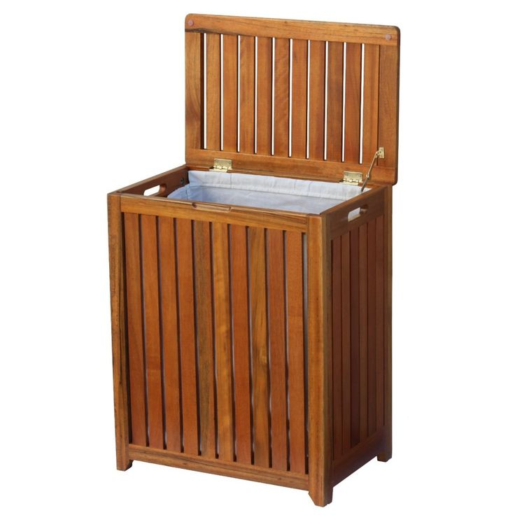 Best 25+ Wooden laundry hamper ideas on Pinterest | Wooden laundry basket, Wooden trash can ...