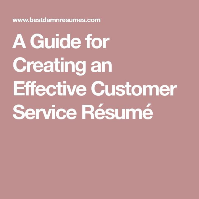 Best 25+ Customer service resume ideas on Pinterest Customer - customer service on a resume