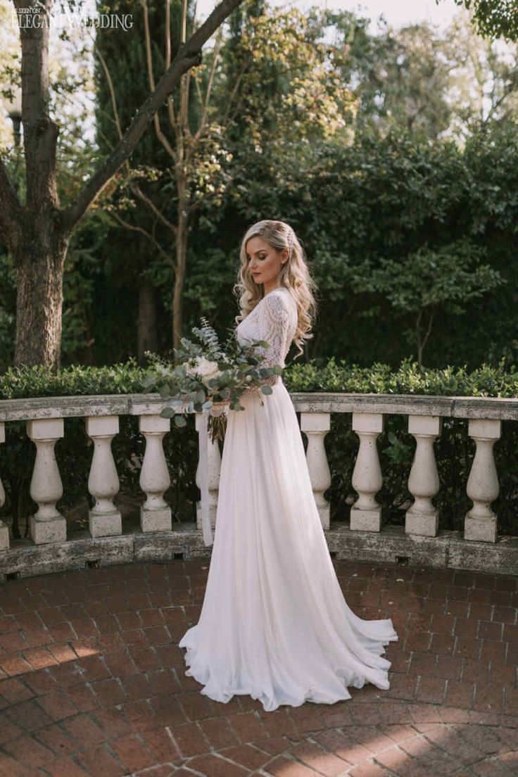 Incredibly Long Sleeve Lace Wedding Dress by Solo Merav from Diamond Bridal Gallery