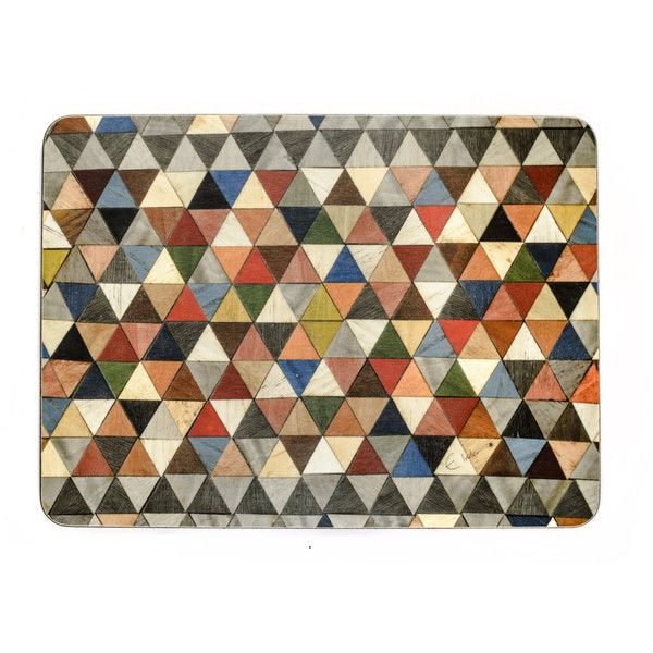6 Large Grey Placemats Harlequin Placemats Multi Boho Place mats Beach... ($116) ❤ liked on Polyvore featuring home, kitchen & dining, table linens, grey placemats, grey table linens, birthday placemats, grey table mats and blue table mats