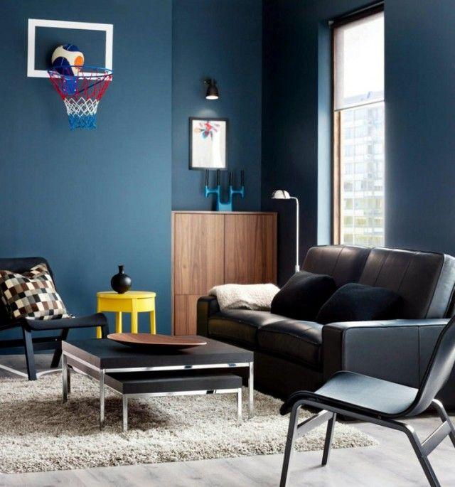 Les 25 meilleures id es concernant peintures bleues d 39 ardoise sur pintere - Revetement mural original ...