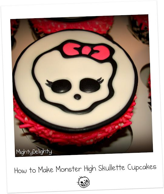 DIY monster high cupcakes. Babygirl will be so pleased :)