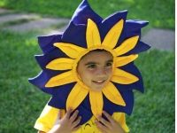 Blue and yellow Flower Costume (3-6 Years) on www.rentsher.com