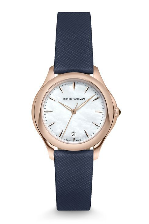 EA SWISS MADE ESEDRA WATCH WITH SAFFIANO LEATHER STRAP: SWISS MADE WATCHES Women by Armani - 1