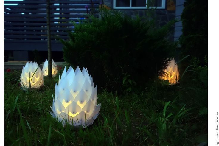Купить Плафон для уличного светильника ШИШКА - белый, шишка, уличный, ландшафтный, уличный светильник