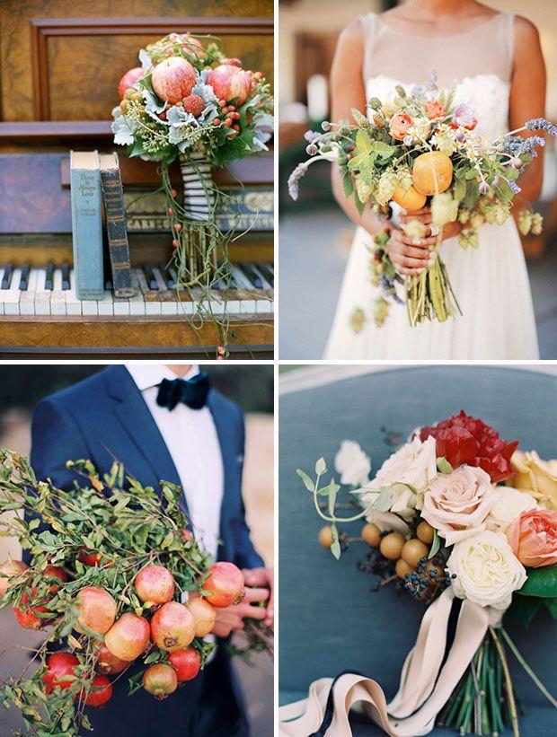 Alternative Wedding Bouquets Non Floral Bridal Bouquets Fruit
