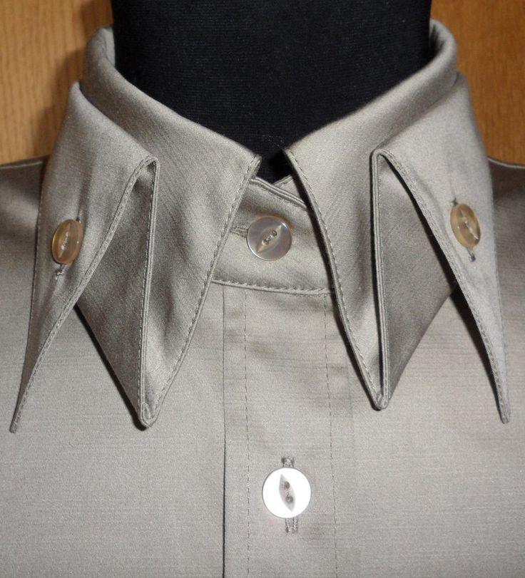 Grey shirt with folded collar detail; sewing inspiration; creative pattern cutting; origami fashion design details