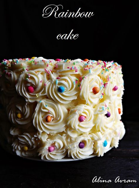 Rainbow cake | Alina Avram's Blog