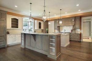 Diese Küche ist sehr subtil und einfach.