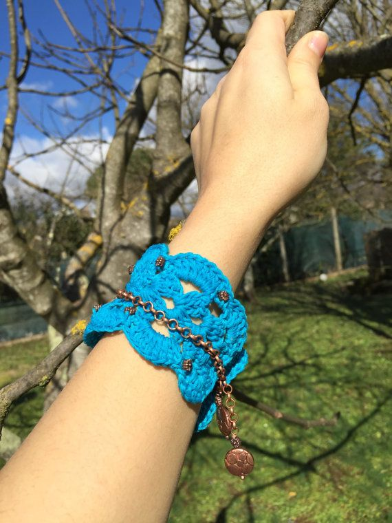 Bracciale turchese all'uncinetto / Turquoise di JustForYouhm