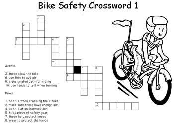 Free Bike Safety Worksheets For Kids Brownie Bike Safety
