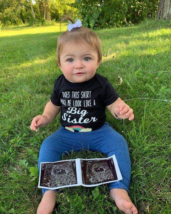 Big Sister Leopard Print Rainbow Shirt Pregnancy Announcement Shirt Toddler Shirt Sibling Shirt