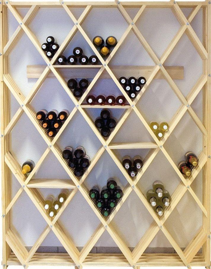 1000 id es sur le th me casiers bouteilles de vin en bois sur pinterest - Meuble pour cave a vin ...