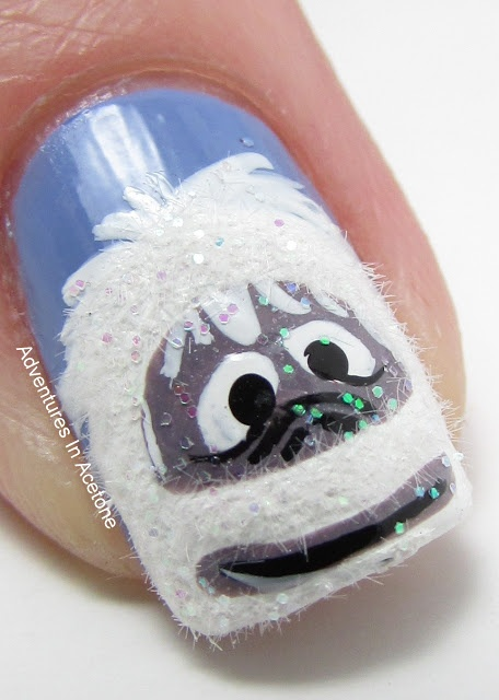 Snowy monster nail! #beauty