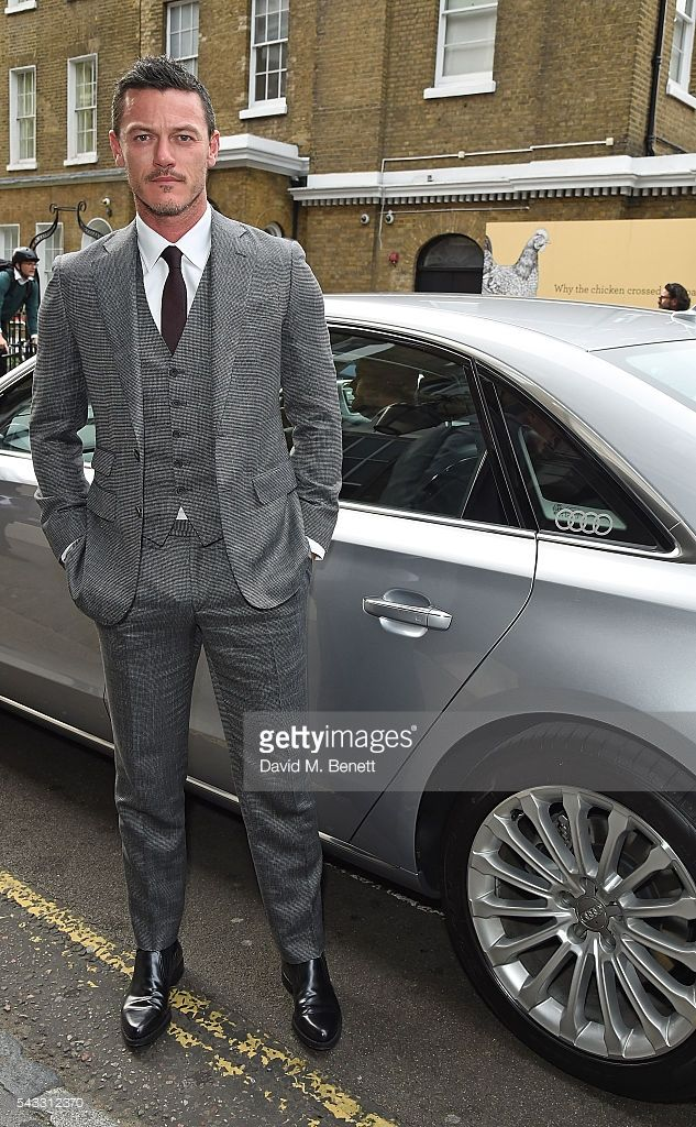Luke Evans arrives in an Audi at The Old Vic Summer Gala on June 27, 2016 in London, England.