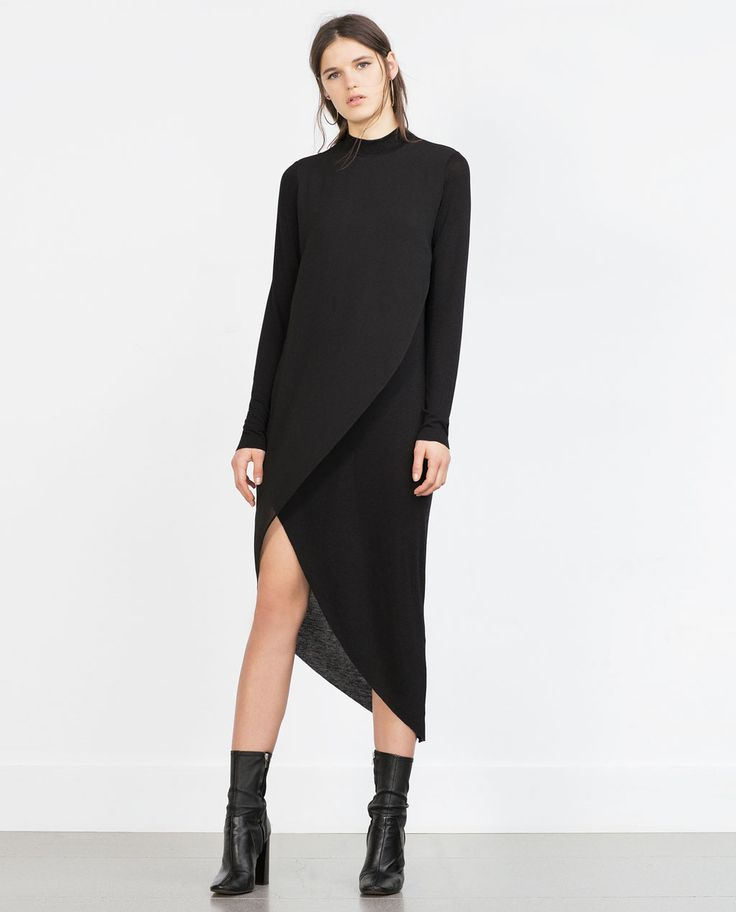 ASYMMETRIC COMBINATION DRESS-View all-Woman-NEW IN | ZARA United States