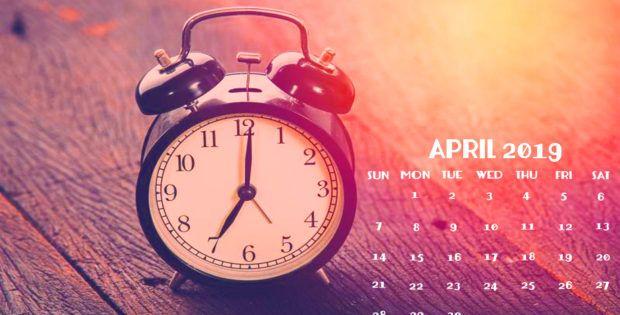 April 2019 Hd Calendar Wallpaper For Desktop Calendar Wallpaper Calendar Desktop Calendar