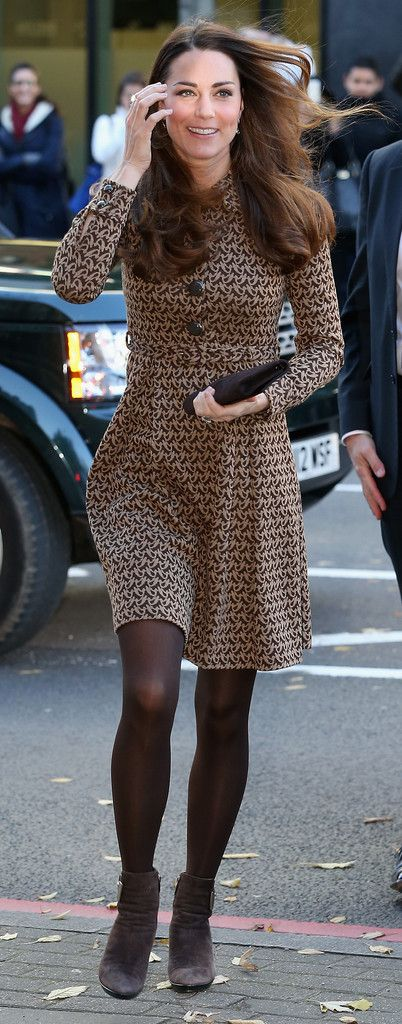 Catherine, Duchess of Cambridge smiles as she arrives for a visit to the Only Connect and ex-offenders projects on November 19, 2013 in London, England.
