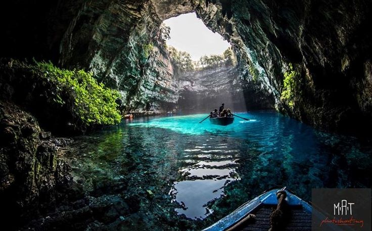 Melissani Cave Kefalonia Greece Cave Pinterest Caves Greece And Search