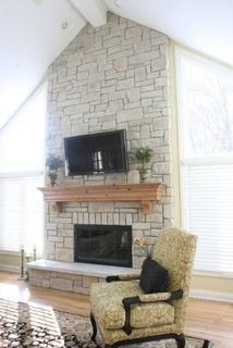 Fireplace mantels and Family room