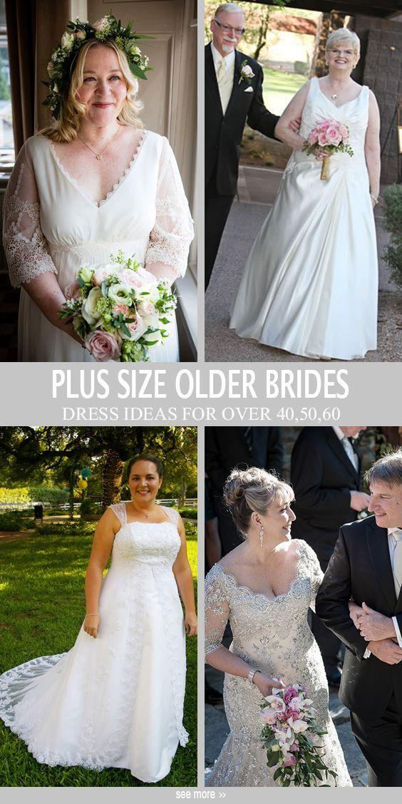 Plus size older bride styles