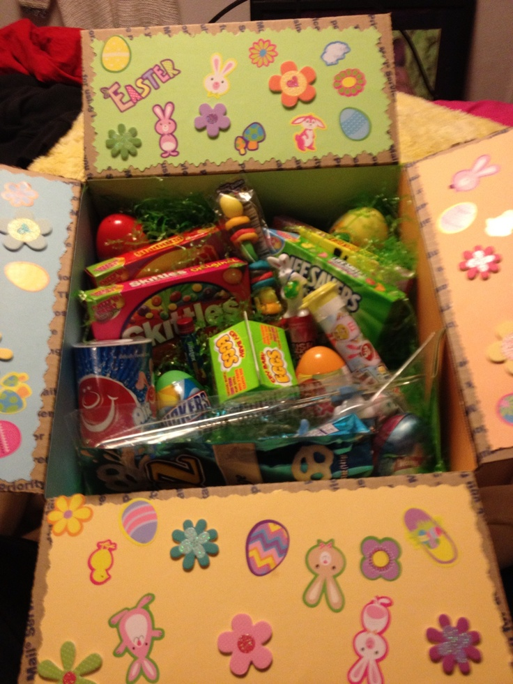 Easter care package I made for Nick.