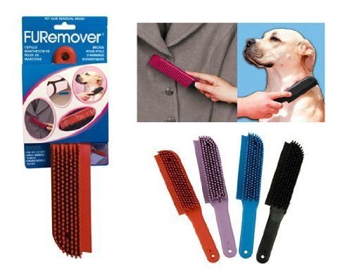 FURemover Pet Hair Removal Brush by FURemover Pet Hair Removal Brush. $7.99. FURemover is a 100% natural rubber brush ideal for removing hair, lint, dust, etc. from pets, clothing, upholstery, carpets and rugs. Can also be used wet to clean cars, boats and caravans. The built in squeegee will wipe clean glass, countertops, etc. The one piece construction prevents bacteria build-up. Fully washable and hygenic.