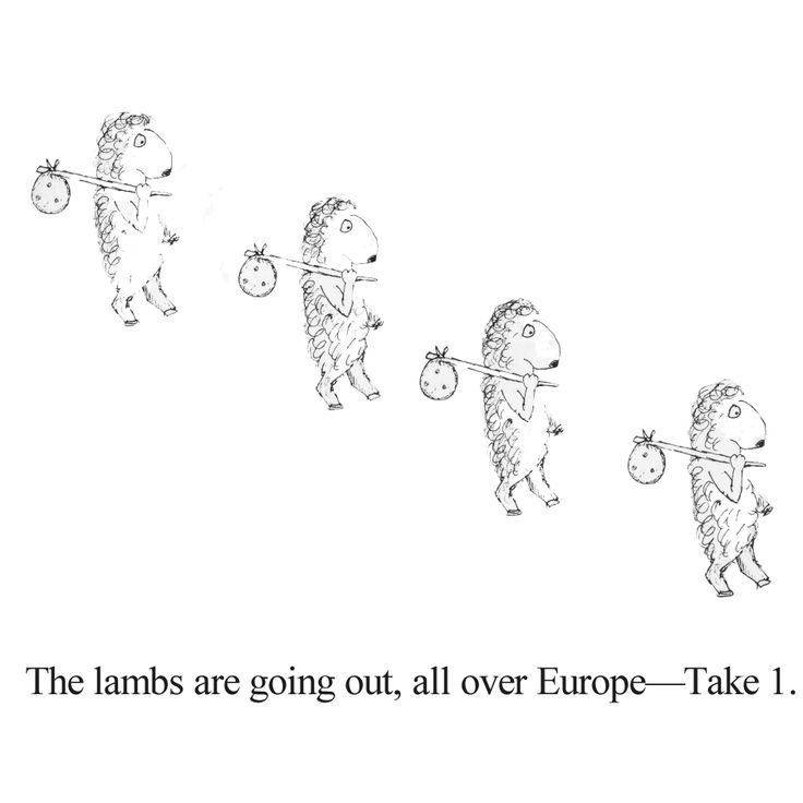 The lambs are going out, all over Europe #1.