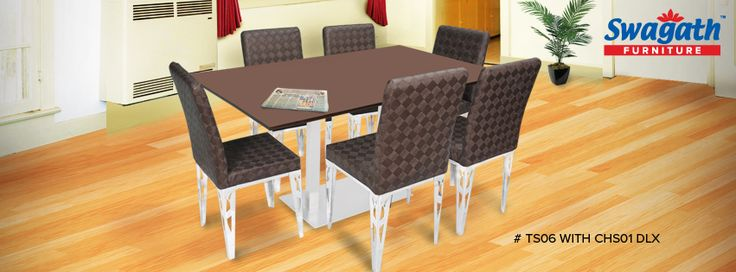 Make your dining room royal with the exclusive steel base TS06 dining #table with CHS01 DLX #chairs!!