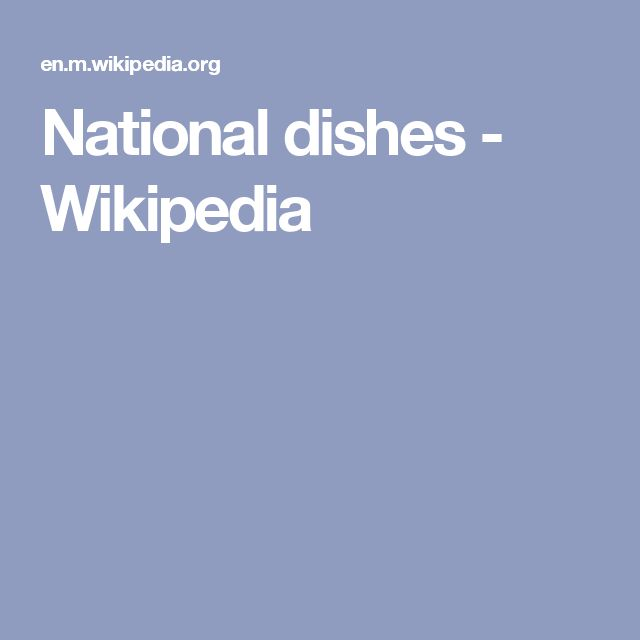 National dishes - Wikipedia