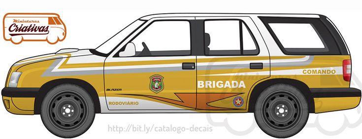 Blazer Brigada militar rodoviária RS