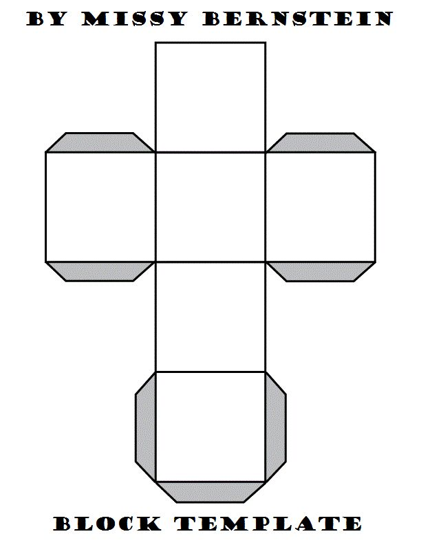Free Paper Block Template  By Missy Bernstein