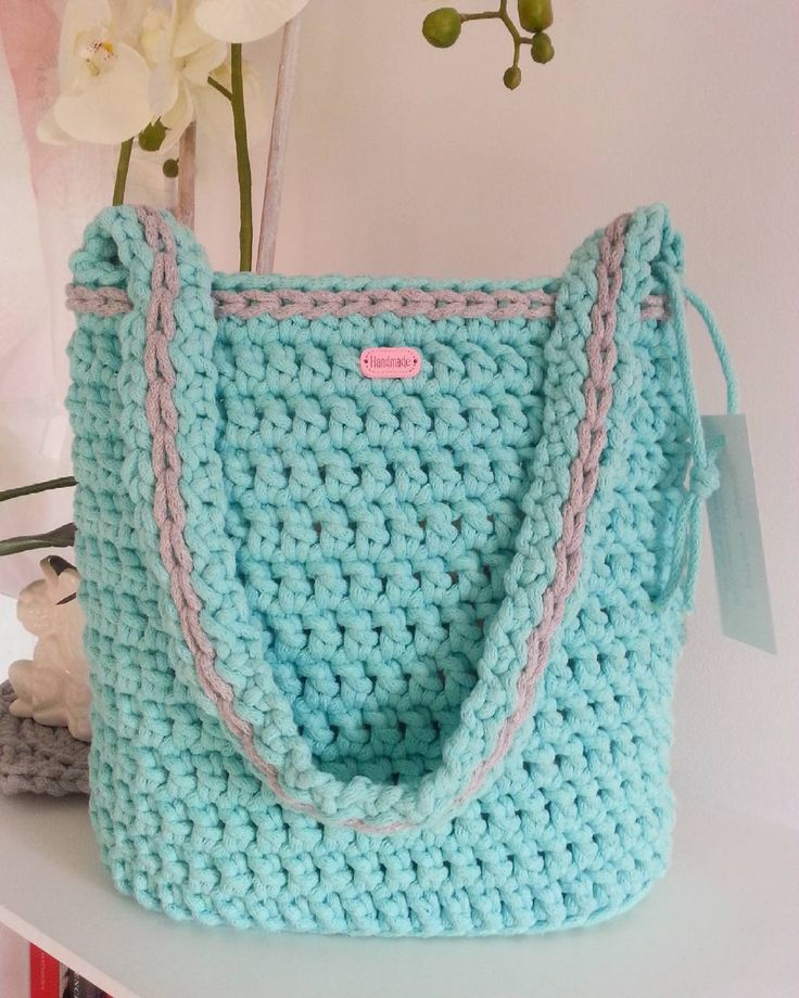 #torba #bag #tasche #zpagetti #cotoncolors #sznurekbawełniany #cotton #crocheting #crochetersofinstagram #recznarobota #szydełko #rękodzieło #inspiration #crochetlove #hobby #zpotrzebypiekna #photo #instaphoto #mint #mięta #szary