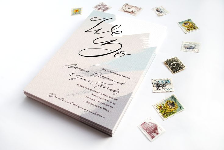 The Thornton suite is perfect for your Summer Wedding with it's simple, muted tones and elegant calligraphy. The 'We Do' invitation features hand crafted calligraphy, paired with equally elegant digital fonts. The background is a series of abstract brush strokes and your wedding details will be filled in appropriately. *Colours can be customised to suite your preference*