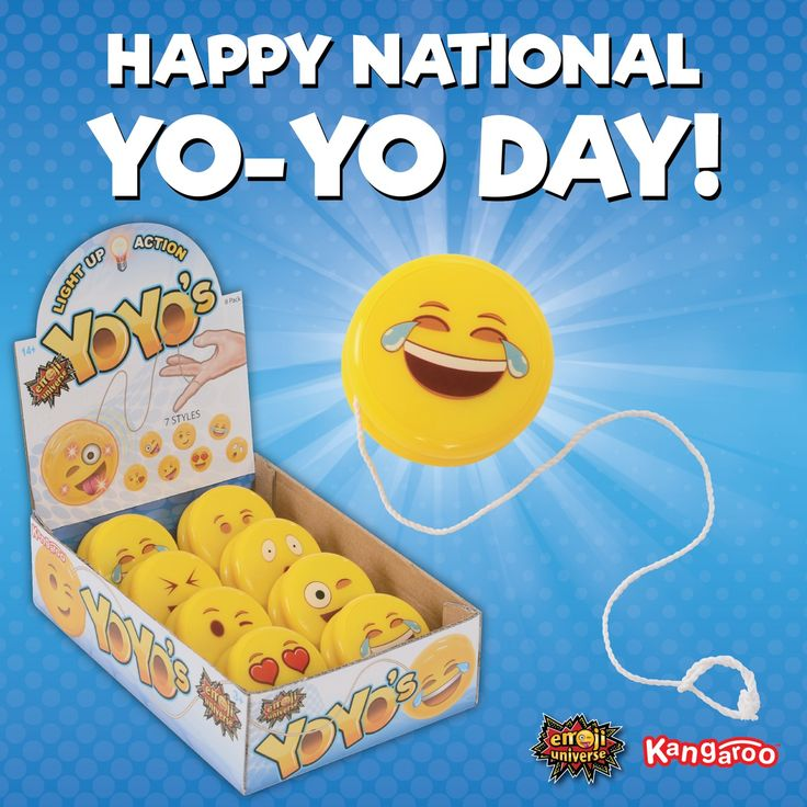 Time to show off walk the dog and around the world. Happy National Yo-Yo Day! #yoyo #yoyotricks #nationalyoyoday #toys #fun #emoji #kangaroomfg #kids #kidtoys #yoyolife #walkthedog #aroundtheworld #tricks #happy