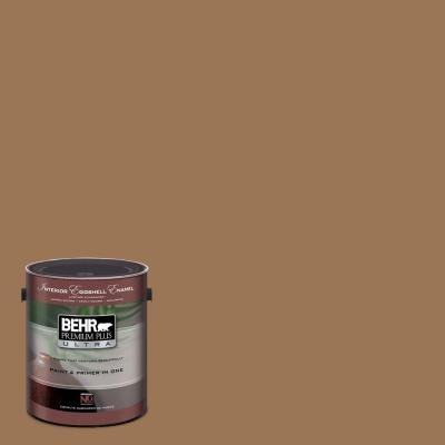 Our paint color -- the perfect pairing for the drapes I'd already sewn for our bedroom.