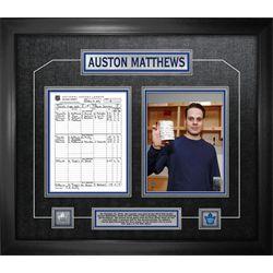 Matthews,A Framed First Game Scoresheet Collage