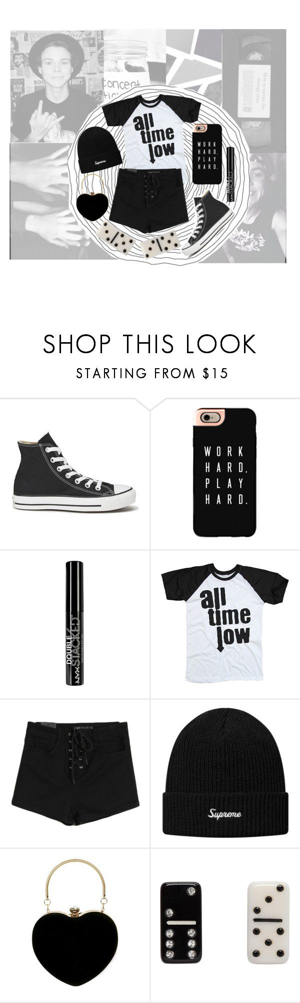 """319. Ashton Irwin girlfriend style"" by choosemaknae ❤ liked on Polyvore featuring KEEP ME, Converse, Casetify, NYX, Marc Jacobs and 5sosOnAMAs"