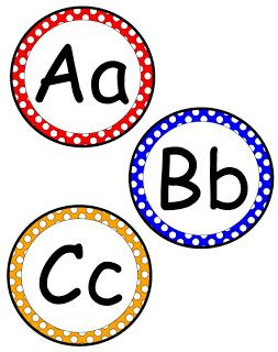 Fabulous Friday Freebie... Letters for word wall