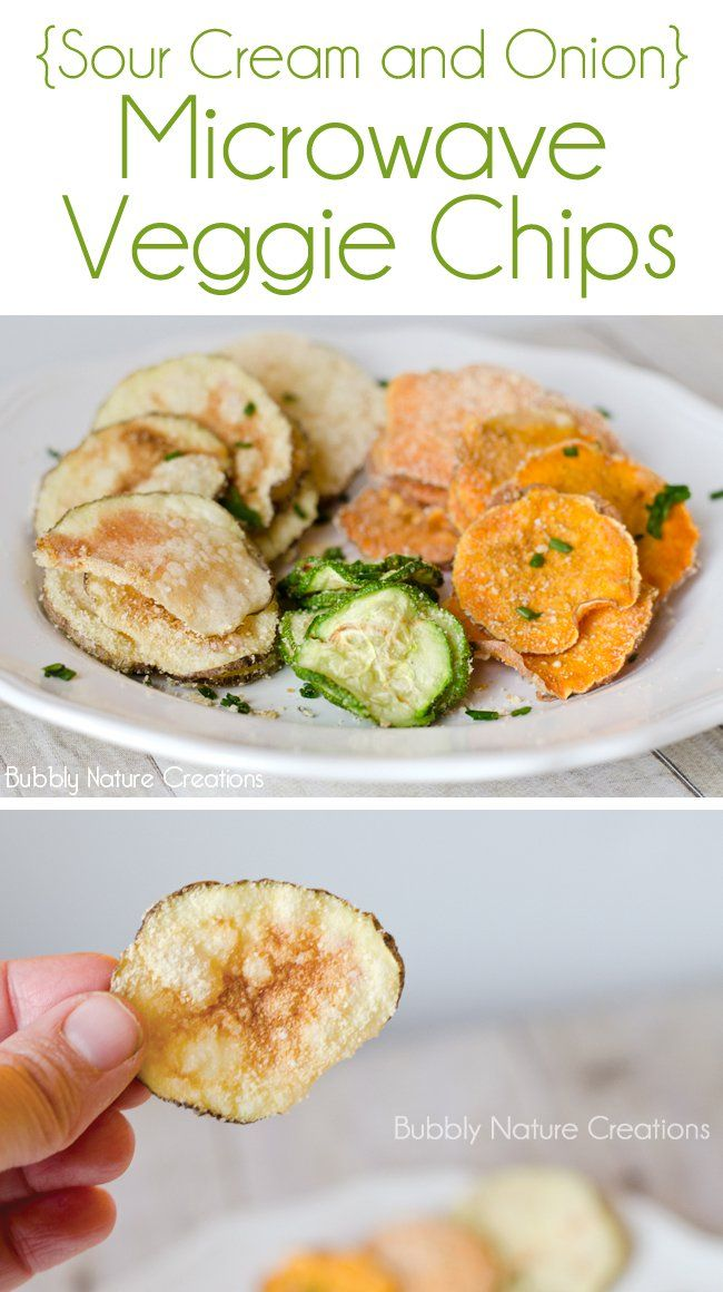 Sour Cream and Onion Veggie Chips! {Microwave}