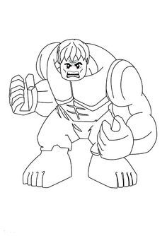 Free Print Out Lego Superheroes Hulk Coloring Pages For Kids Online How To Draw Superhero Preschool