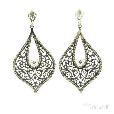 LK Leetal Kalmanson - Ornament-Ohrring Perlmutt mit