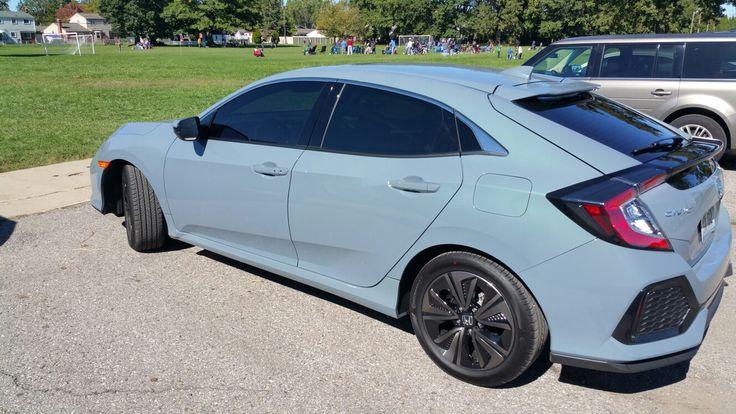 2017 Honda Civic Hatchback Sonic Gray Pearl. Honda