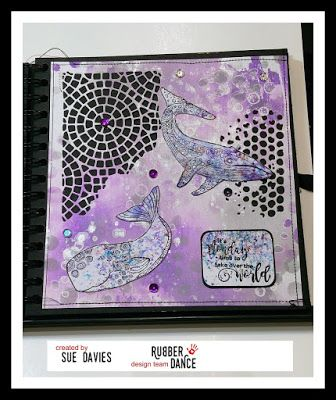 * Rubber Dance Blog *: Art Journal Page with Whale Wishes