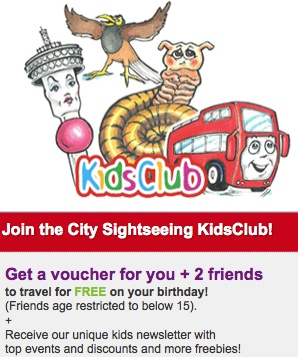 Joey the Bus, Thandi Tower, Nick the Minah and Shy Shongolo welcomes   you on board!  With your own kids channel to listen to and free activity book, you will have so much fun on Johannesburg's much loved red Bus! City Sighseeing is proudly Carbon Neutral and we care about the future of our planet.  http://www.citysightseeing.co.za/kidsJHB.php