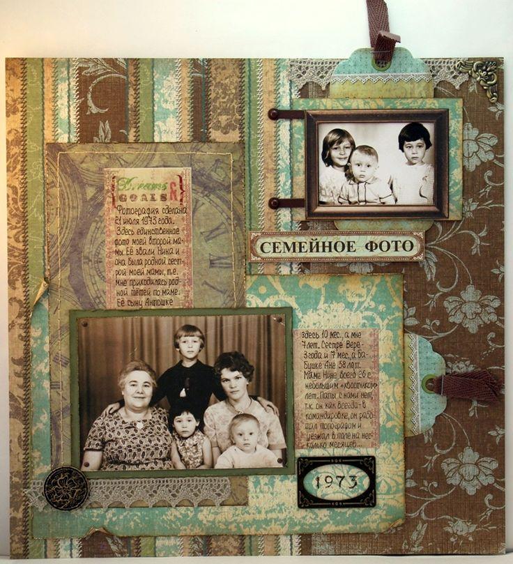 heritage photo album ideas - 384 best images about Scrapbook Vintage Layouts on
