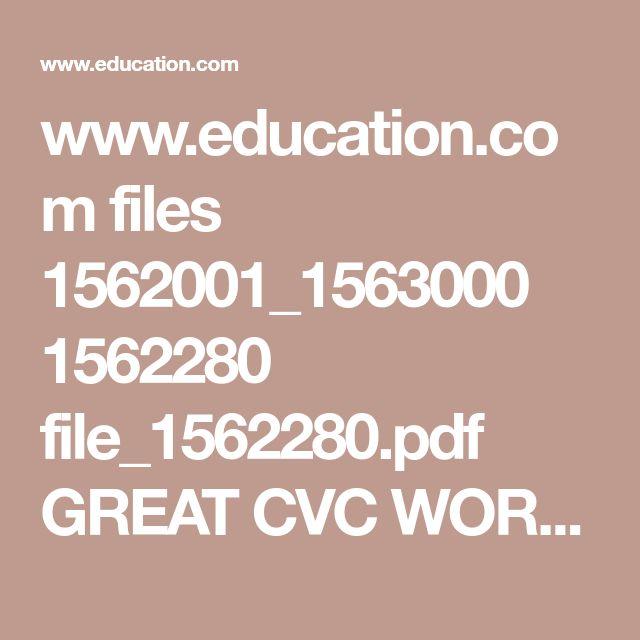 Mejores 10 imágenes de ENGLISH CVC en Pinterest | Hojas de cálculo ...